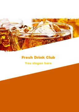 Soda With Ice Word Template, Cover Page, 05726, Food & Beverage — PoweredTemplate.com