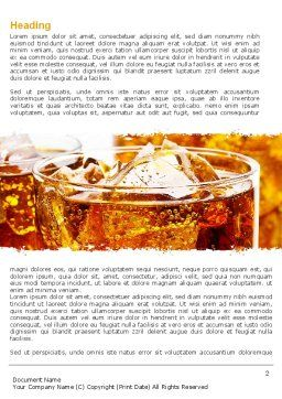 Soda With Ice Word Template First Inner Page