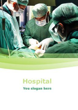 Anesthesia In Surgery Word Template, Cover Page, 05727, Medical — PoweredTemplate.com