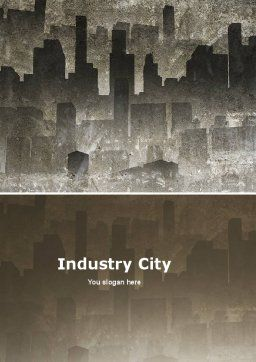 Dark City Word Template, Cover Page, 05728, Construction — PoweredTemplate.com