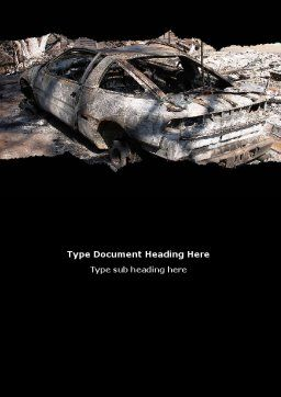 Car Bomb Word Template, Cover Page, 05731, Military — PoweredTemplate.com