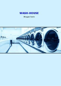 Laundry Word Template, Cover Page, 05737, Careers/Industry — PoweredTemplate.com