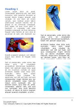 Superheroes Word Template First Inner Page