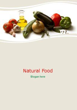 Grocery Products Word Template Cover Page