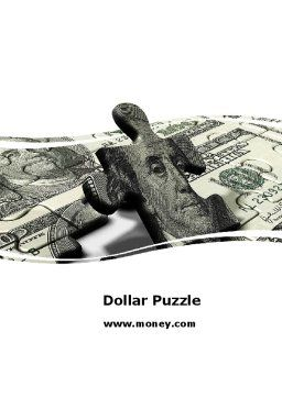 Dollar Bill Word Template, Cover Page, 05742, Financial/Accounting — PoweredTemplate.com