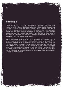 University Study Word Template Second Inner Page