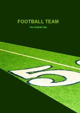 American Football Field Word Template, Cover Page, 05744, Sports — PoweredTemplate.com