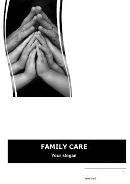 Family Harmony Word Template, Cover Page, 05745, Religious/Spiritual — PoweredTemplate.com