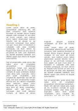 Goblet Of Beer Foaming Word Template, First Inner Page, 05748, Food & Beverage — PoweredTemplate.com