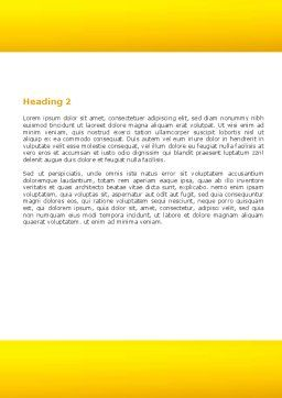 Goblet Of Beer Foaming Word Template, Second Inner Page, 05748, Food & Beverage — PoweredTemplate.com