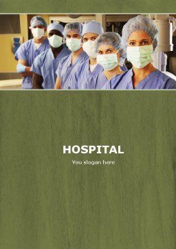 Medical Personnel In Hospital Word Template, Cover Page, 05749, Medical — PoweredTemplate.com