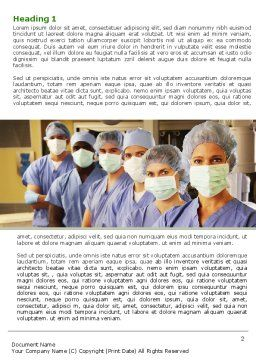 Medical Personnel In Hospital Word Template, First Inner Page, 05749, Medical — PoweredTemplate.com