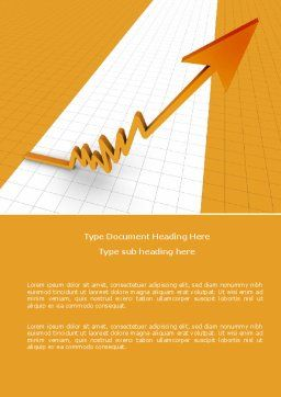 Growth Rate Word Template, Cover Page, 05754, Consulting — PoweredTemplate.com