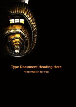 Corkscrew Staircase Word Template, Cover Page, 05757, Construction — PoweredTemplate.com