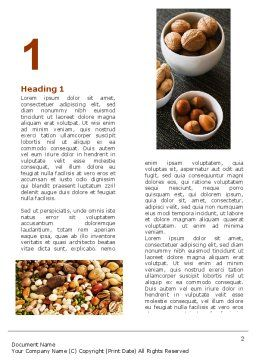 Nuts Word Template, First Inner Page, 05759, Food & Beverage — PoweredTemplate.com