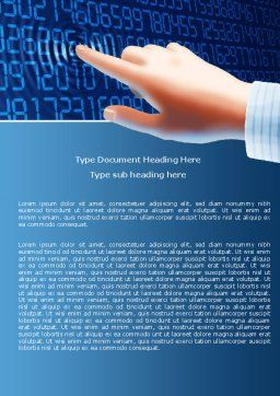 Digital Touch Word Template, Cover Page, 05760, Technology, Science & Computers — PoweredTemplate.com