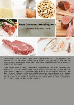 Food Protein Word Template, Cover Page, 05761, Careers/Industry — PoweredTemplate.com
