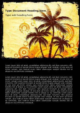 Palm Trees Word Template Cover Page