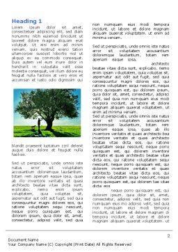 Walk Word Template, First Inner Page, 05764, Nature & Environment — PoweredTemplate.com