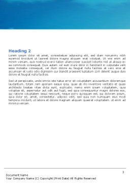 Walk Word Template, Second Inner Page, 05764, Nature & Environment — PoweredTemplate.com