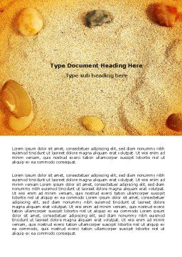 Beach Sand Word Template Cover Page