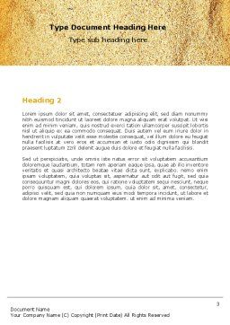 Beach Sand Word Template, Second Inner Page, 05765, Careers/Industry — PoweredTemplate.com