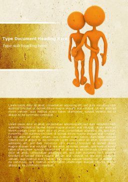 Couple Word Template, Cover Page, 05768, Medical — PoweredTemplate.com
