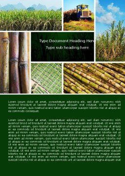 Sugar Cane Word Template, Cover Page, 05770, Agriculture and Animals — PoweredTemplate.com