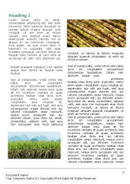 Sugar Cane Word Template, First Inner Page, 05770, Agriculture and Animals — PoweredTemplate.com