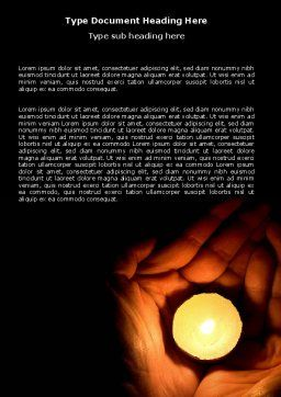Candle In Hands Word Template Cover Page