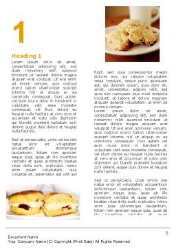 Pastry In Collage Word Template First Inner Page