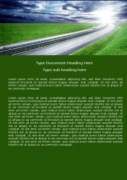 Dawn Highway Word Template, Cover Page, 05781, Construction — PoweredTemplate.com