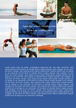 Yoga Word Template, Cover Page, 05782, Sports — PoweredTemplate.com