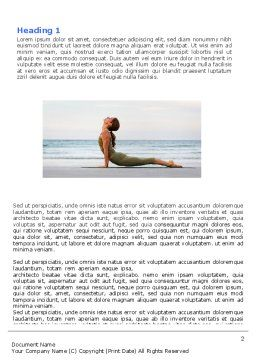 Yoga Word Template, First Inner Page, 05782, Sports — PoweredTemplate.com