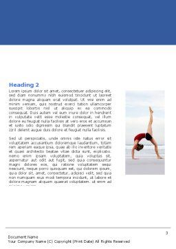 Yoga Word Template, Second Inner Page, 05782, Sports — PoweredTemplate.com