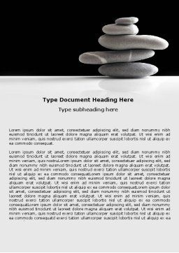 Balanced Stones Word Template, Cover Page, 05785, Business Concepts — PoweredTemplate.com