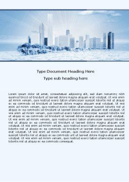 Ice City Word Template, Cover Page, 05787, Construction — PoweredTemplate.com
