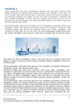 Ice City Word Template, First Inner Page, 05787, Construction — PoweredTemplate.com