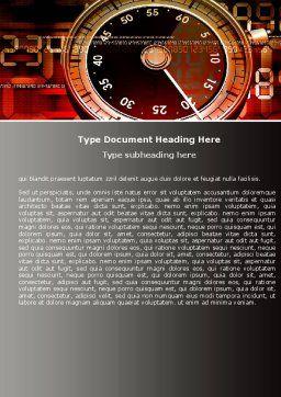 Stopwatch Clockface Word Template, Cover Page, 05792, Business — PoweredTemplate.com
