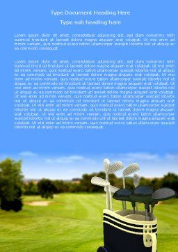 Golf Clubs Word Template, Cover Page, 05793, Sports — PoweredTemplate.com