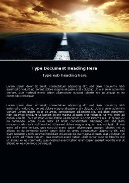 Long Distance Road Word Template Cover Page