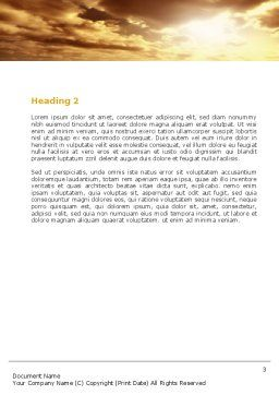 Long Distance Road Word Template Second Inner Page