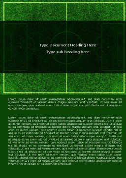 Football Play Field Word Template, Cover Page, 05800, Sports — PoweredTemplate.com