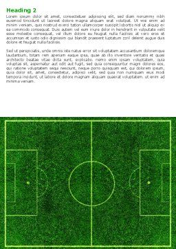 Football Play Field Word Template, Second Inner Page, 05800, Sports — PoweredTemplate.com