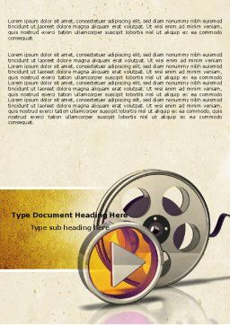Moving Pictures Word Template Cover Page