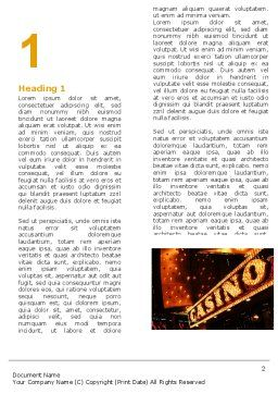 Casino Word Template, First Inner Page, 05811, Careers/Industry — PoweredTemplate.com