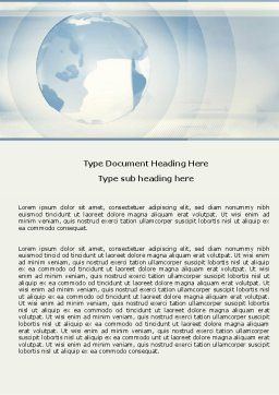Clean Global Word Template, Cover Page, 05812, Global — PoweredTemplate.com
