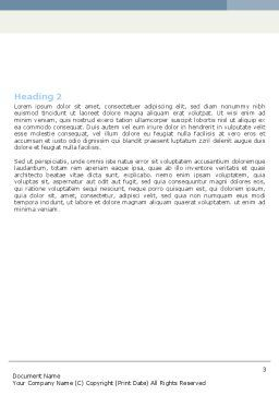 Clean Global Word Template, Second Inner Page, 05812, Global — PoweredTemplate.com