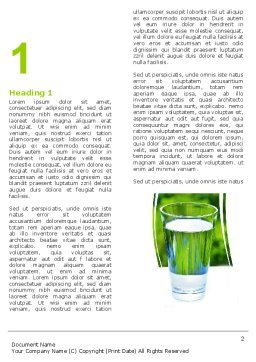 Glass of Water Word Template, First Inner Page, 05815, Food & Beverage — PoweredTemplate.com