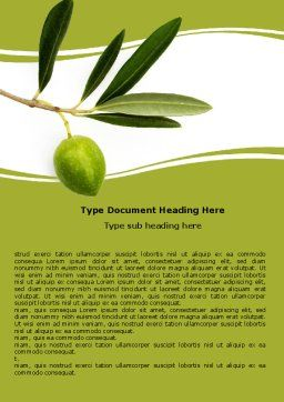 Olive Tree Word Template Cover Page